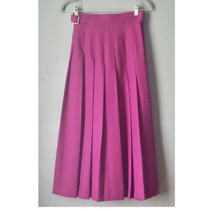 Wool Midi Skirt in a Rich Plum Color
